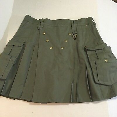 "UTILIKILT by UTILICLAN Snap Button tag 39 measured Waist 37"" length 21.5"""