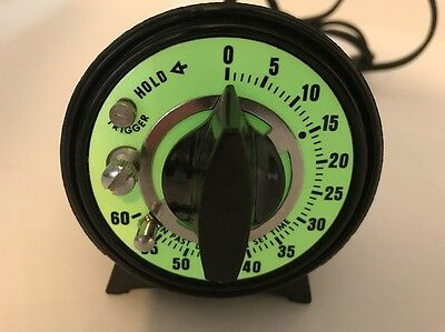 Pre-owned & Tested M.H.Rhodes #78100 0-60 Sec Glow In The Dark Dark Room Timer
