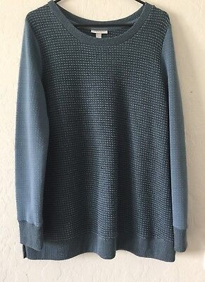 Liz Lange Maternity Women's  Knit Sweater Blue NWOT Large