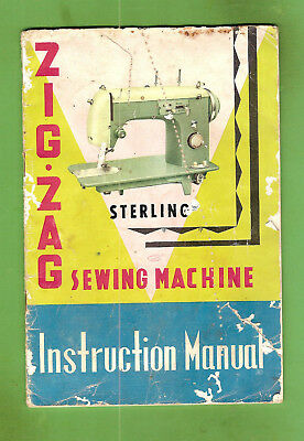 #d335.  Sterling  Sewing  Machine Zig Zag Model Booklet / Instruction Manual