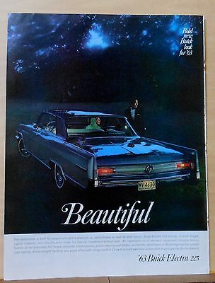 1962 magazine ad for Buick - 1963 Electra 225, performance as well as luxury
