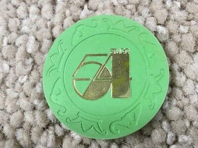 STUDIO 54 original $5 drink poker chip / drink token from NYCs FAMOUS NIGHTCLUB