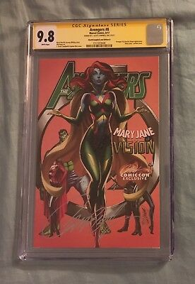 Avengers #8  CGC SS 9.8  Variant Cover D  Campbell  Vision Roadshow