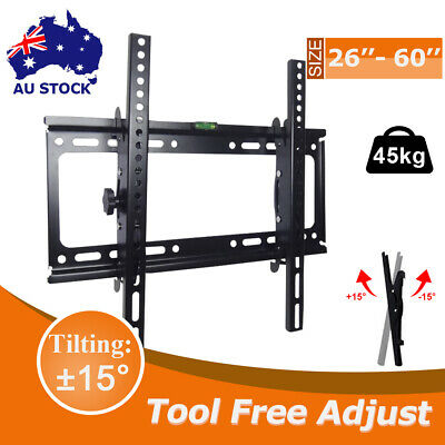 TV Bracket Wall Mount Slimline Tilting LCD LED 32 40 43 47 48 49 50 55 60 Inch