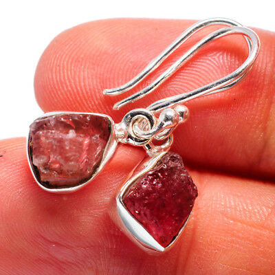 "Pink Tourmaline 925 Sterling Silver Earrings 1"" Ana Co Jewelry E360606"