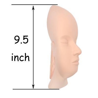 Elastic Total face skin for eyebrow tattoo training mannequin head for ey... New
