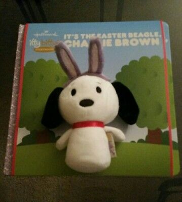 "Hallmark Itty Bitty ""it's The Easter Beagle Charlie Brown"" Storybook New Snoopy"