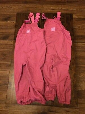 jojo maman bebe waterproof dungarees Age 3/4/5 Years x2 ( twins)
