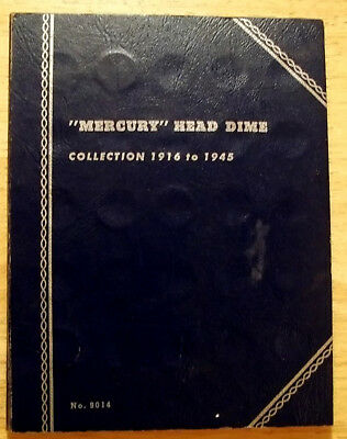 Mercury Dime Collection, Incomplete, 43 Coins of varying grades, Good Start