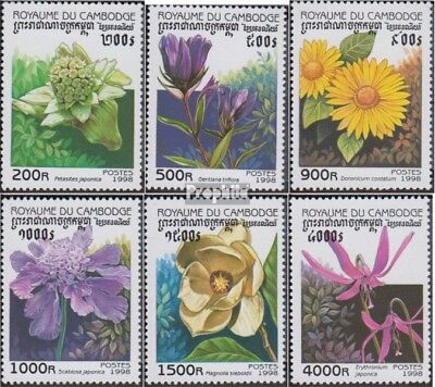 Cambodia 1845-1850 (complete issue) unmounted mint / never hinged 1998 Flora
