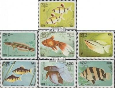 Cambodia 715-721 (complete issue) unmounted mint / never hinged 1985 Fish