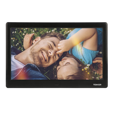 TENKER 10-inch HD Digital Photo Frame IPS LCD Screen with Auto-Rotate/Calendar/C
