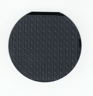 One Early, Vintage 1980's, AMI, 2-Inch Diameter Silicon Chip Wafer