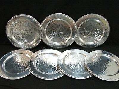 7 NEW 13 in pewter serving dishes hand hammered can be used for commercial cater