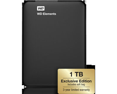 WD Elements 1 TB Exclusive Edition, Externe Festplatte, 2.5 Zoll