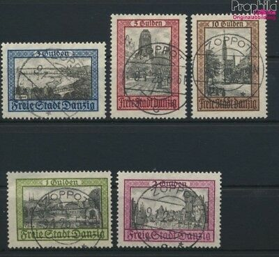 Gdansk 207-211 (complete issue) fine used / cancelled 1924 Cityscapes (9045890