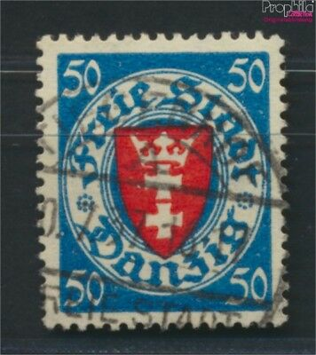 Gdansk 200y ba tested fine used / cancelled 1924 State Emblem (9045897