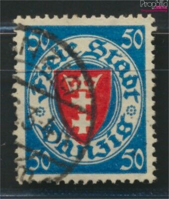 Gdansk 200y ba tested fine used / cancelled 1924 State Emblem (9045892
