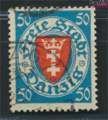 Gdansk 200y ba tested fine used / cancelled 1924 State Emblem (9045893
