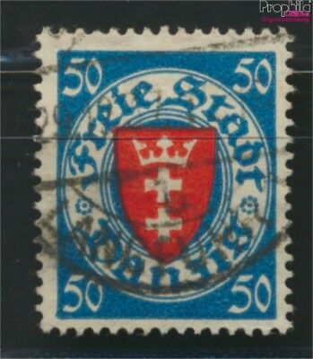 Gdansk 200y ba tested fine used / cancelled 1924 State Emblem (9045895