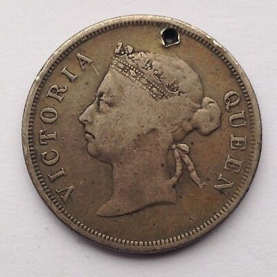 Straits Settlements 50 Cents Silver Coin, Issued In 1897