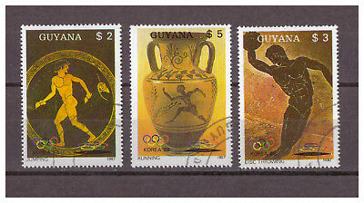 Guyana, Olympische Sommerspiele 1988, Seoul MiNr. 2061 - 2063, 1987 used