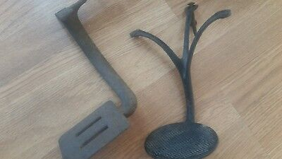 2 Antique Cast Iron Horse Drawn Buggy / Carriage Steps ~ Vintage antique