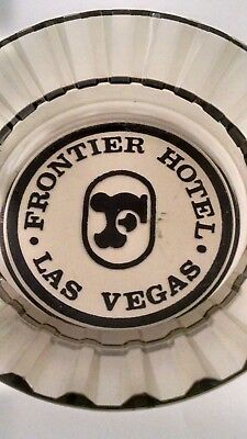 Vintage Frontier Hotel and Casino Las Vegas Nevada Glass Ashtray (used)