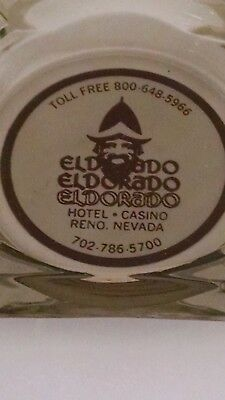 Vintage Eldorado Hotel and Casino Reno Nevada Glass Ashtray (used)