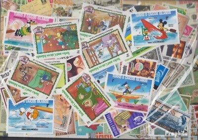 Turks- and Caicos-Islands 100 different stamps