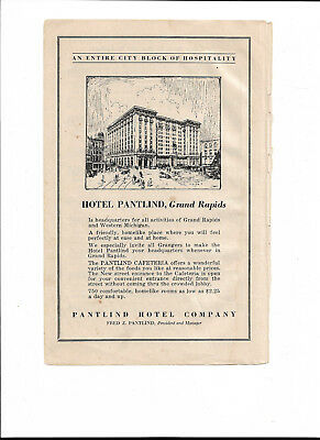 Pet Rescue Pantlind Hotel Grand Rapids Michigan Print Advertising Early 1900's?