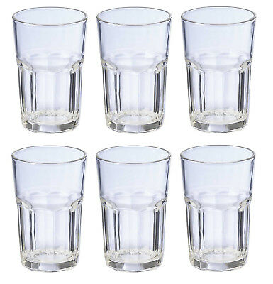 Set of 6 Tumbler 300ml Glass Water Glassware Drinking Cup Clear Drink Beverage