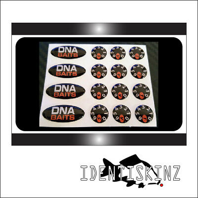 Dna baits oval dial domed stickers decals set for the delkim txi plus ev std