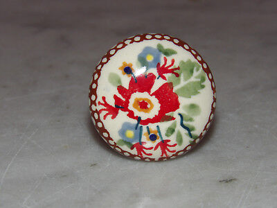 "Polish Pottery UNIKAT 1.5"" Diameter Drawer Pull! Zoey Pattern!"