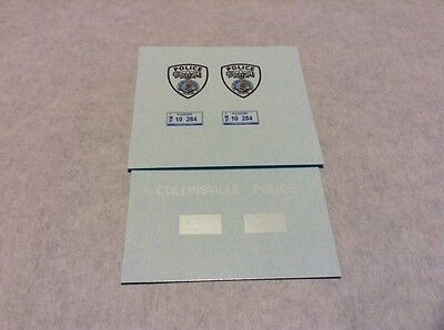 COLLINSVILLE Illinois POLICE 1/24 - 1/25 Scale Police Decals CURRENT STYLE