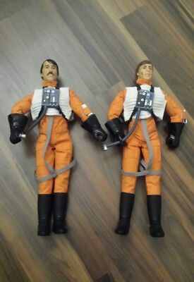 STAR WARS 30cm Figuren WEDGE ANTILLES X-Wing Pilot Hasbro 2 Stück