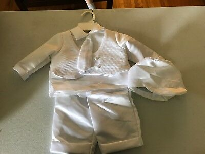 Infant Baby Boy COMMUNION CHRISTENING BAPTISM OUTFIT SUIT SET  6-9 Months