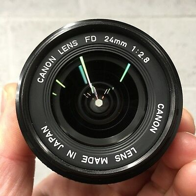 Canon FD 24mm 2.8 Lens (FDn with SSC)