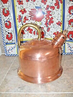 Antique/Vintage  Copper and brass Tea Pot Made in Portugal