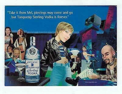 Tanqueray Sterling Vodka Advertisement Postcard