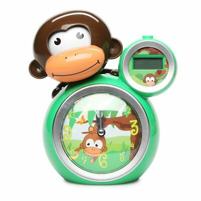 Momo Sleep Trainer and Alarm Clock, Green Monkey