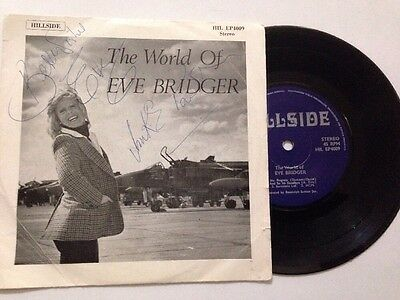 "THE WORLD OF EVE BRIDGER 7"" Vinyl EP 1978. Signed **Free UK Postage**"