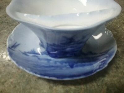 German delft mustache cup. Beautiful Blues glossy finish!