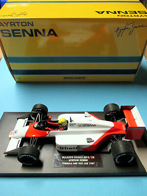 1/18 McLaren Honda MP4/3B Ayrton Senna Test Car 1987 MINICHAMPS 547 871899 TOP !