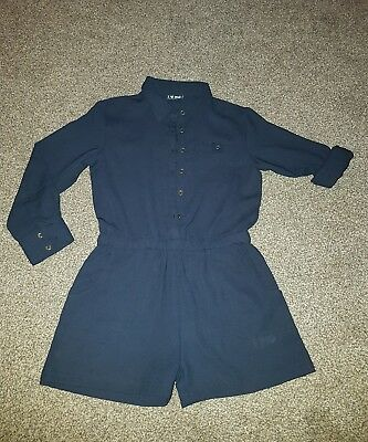 girls age 7 next all in one suit navy blue