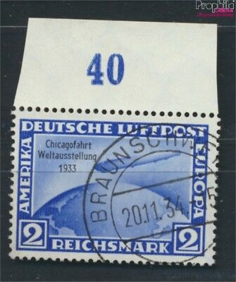 German Empire 497 tested used 1933 50. Ozeanüberquerung Count Zeppelin (9063154