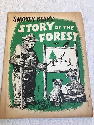 VTG 1959 U.S. Dept of Agriculture booklet: Smokey Bear's Story of the Forest #A