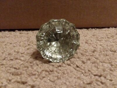 Antique/vintage Clear Crystal 12 Point Door Knob - Round Flower