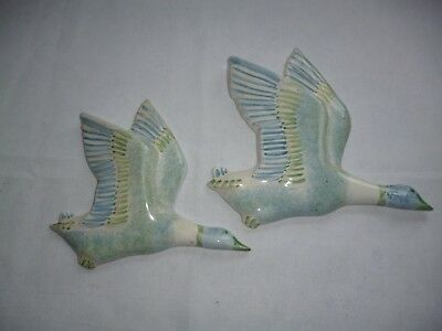 Vintage Wall Hanging Ducks , 1960 , English , Rye Pottery
