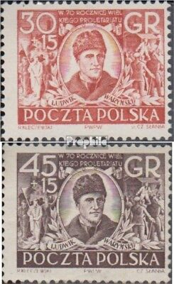Poland 762-763 (complete issue) unmounted mint / never hinged 1952 Polish worker